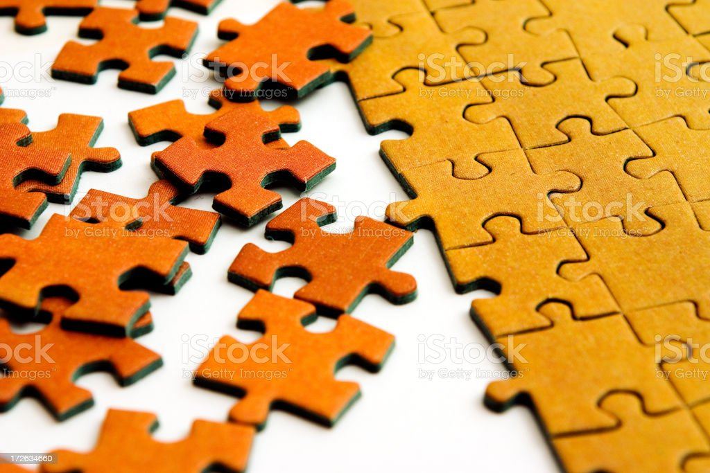 Puzzle 5 royalty-free stock photo