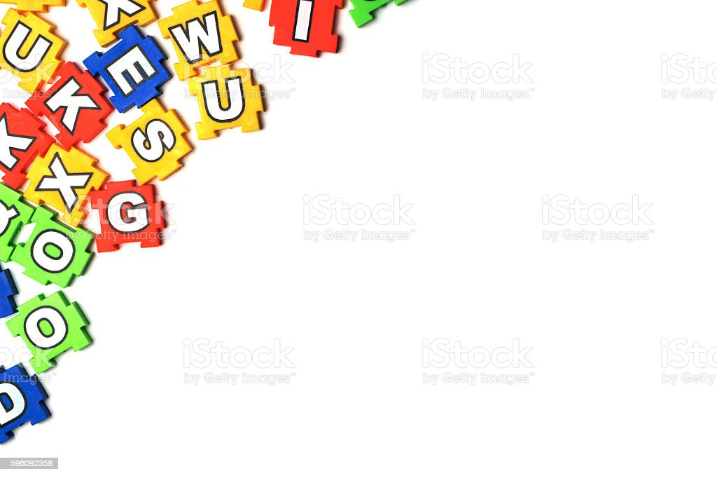 Puzzle ABC on white background royalty-free stock photo