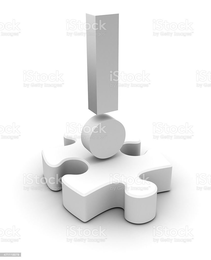 Puzzle answer royalty-free stock photo