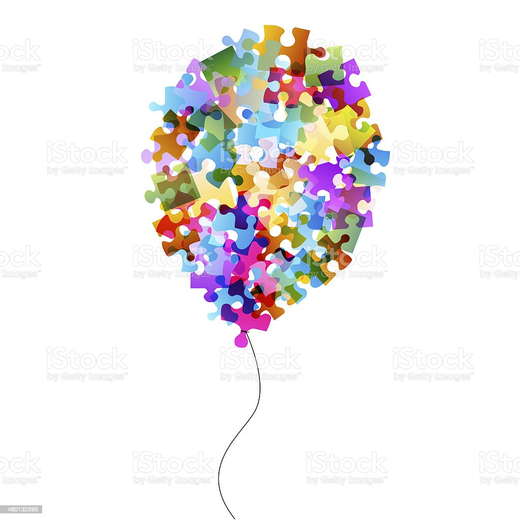 puzzle balloon stock photo