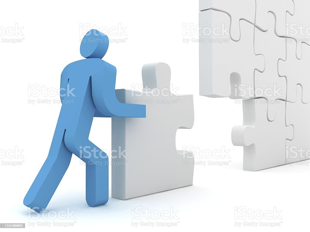 Puzzle Building royalty-free stock photo