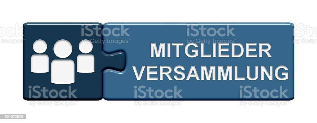 Puzzle Buton member´s meeting stock photo