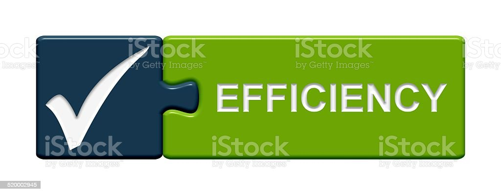 Puzzle Button efficiency stock photo