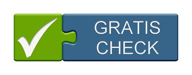 puzzle knopf-kostenloses check-in deutschland - kostenlose onlinespiele stock-fotos und bilder