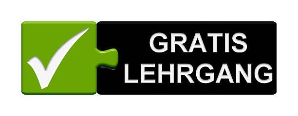 """puzzle """"kostenlose seminar in deutsch - kostenlose onlinespiele stock-fotos und bilder"""