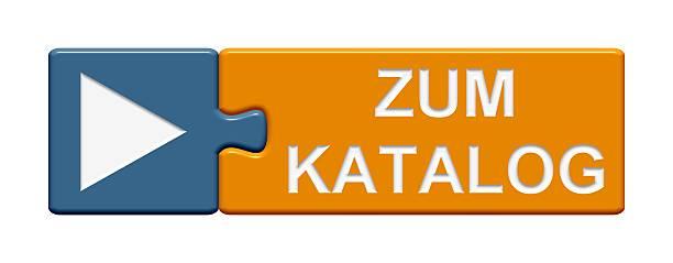 puzzle knopf mit zur katalog-german - kostenlose onlinespiele stock-fotos und bilder