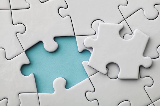 puzzle-konzept - puzzleteil stock-fotos und bilder
