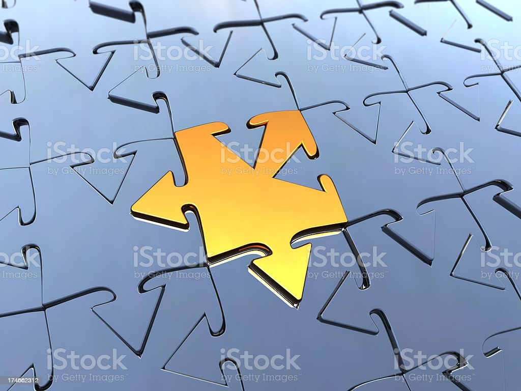 Puzzle Concepts royalty-free stock photo
