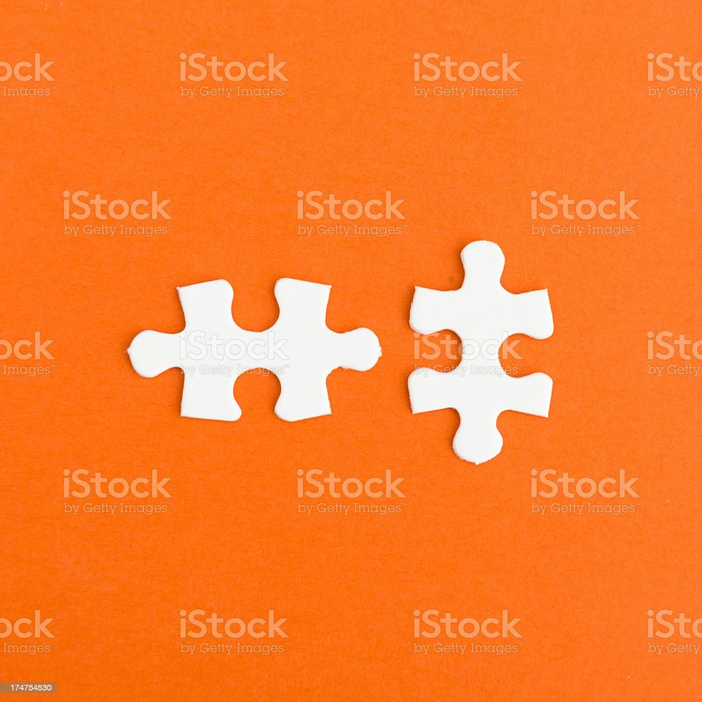 Puzzle connections stock photo