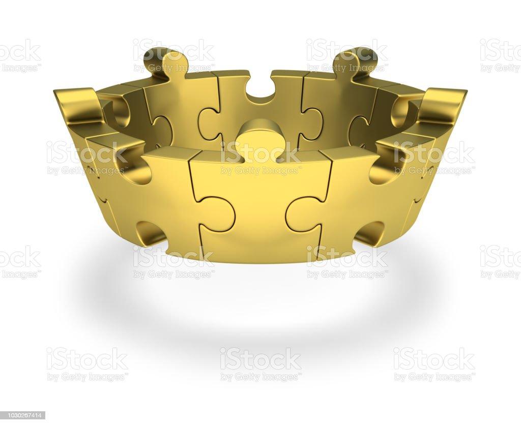 puzzle crown стоковое фото
