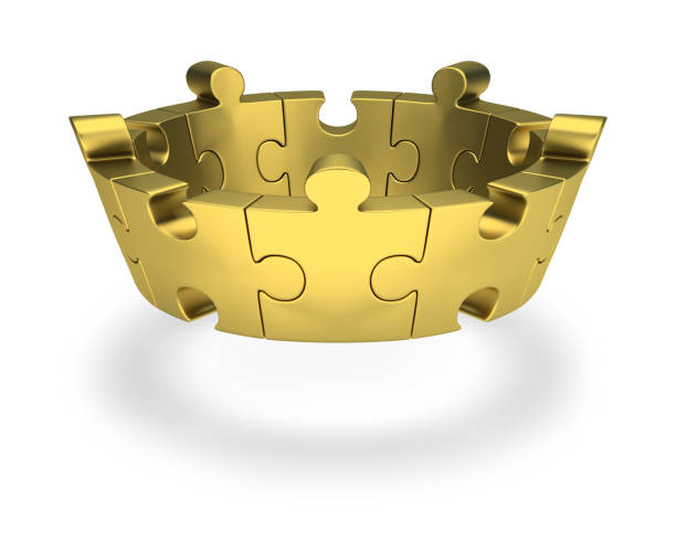 Cтоковое фото puzzle crown
