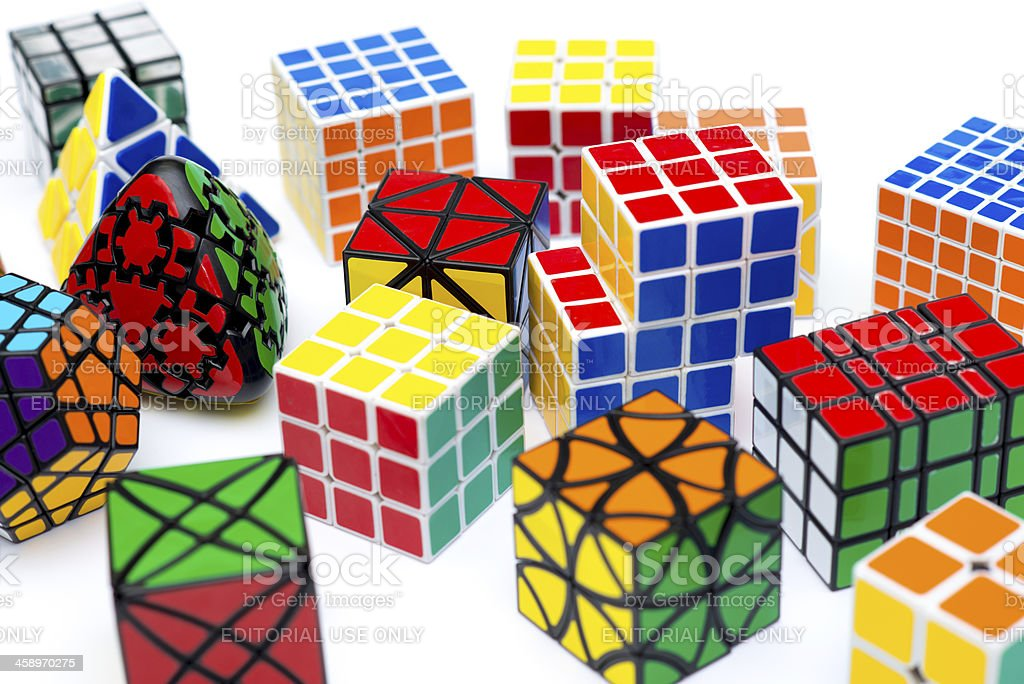 Puzzle cubes royalty-free stock photo
