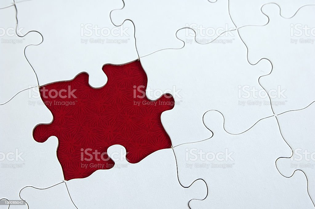 Puzzle - Dark Red royalty-free stock photo
