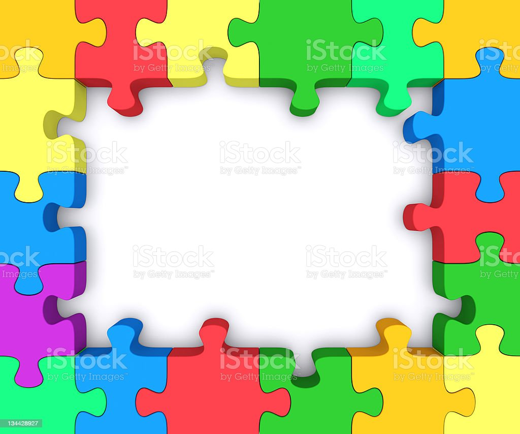 Puzzle Frame Stock Photo & More Pictures of Blank | iStock