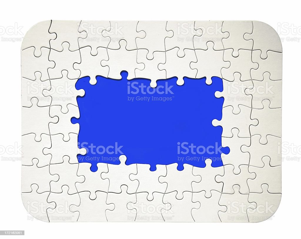 Puzzle Frame royalty-free stock photo
