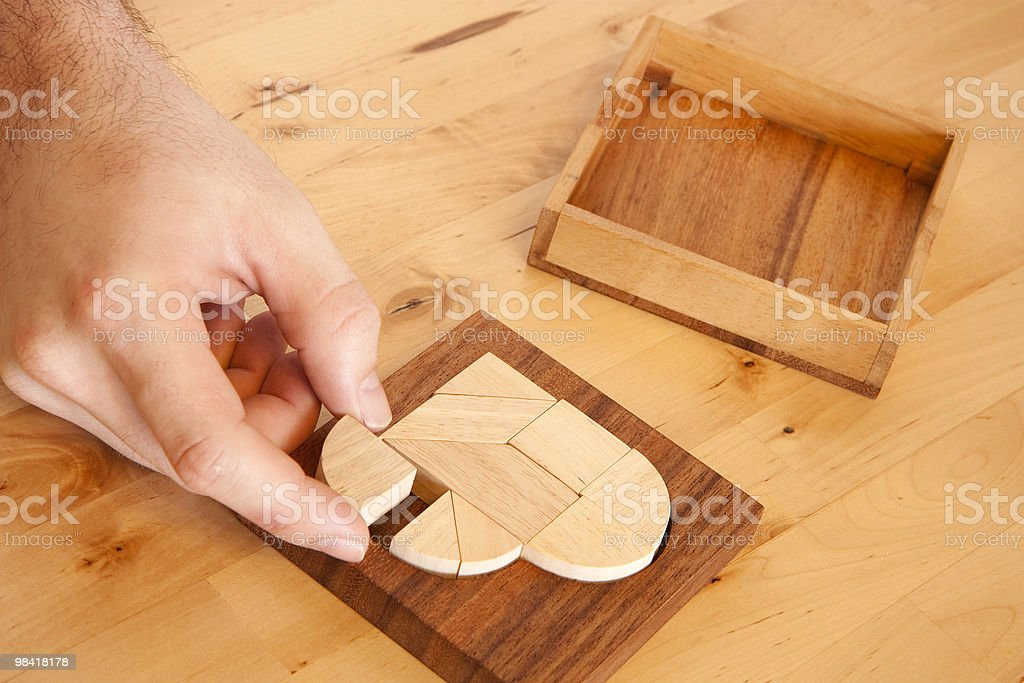 Puzzle game royalty-free stock photo