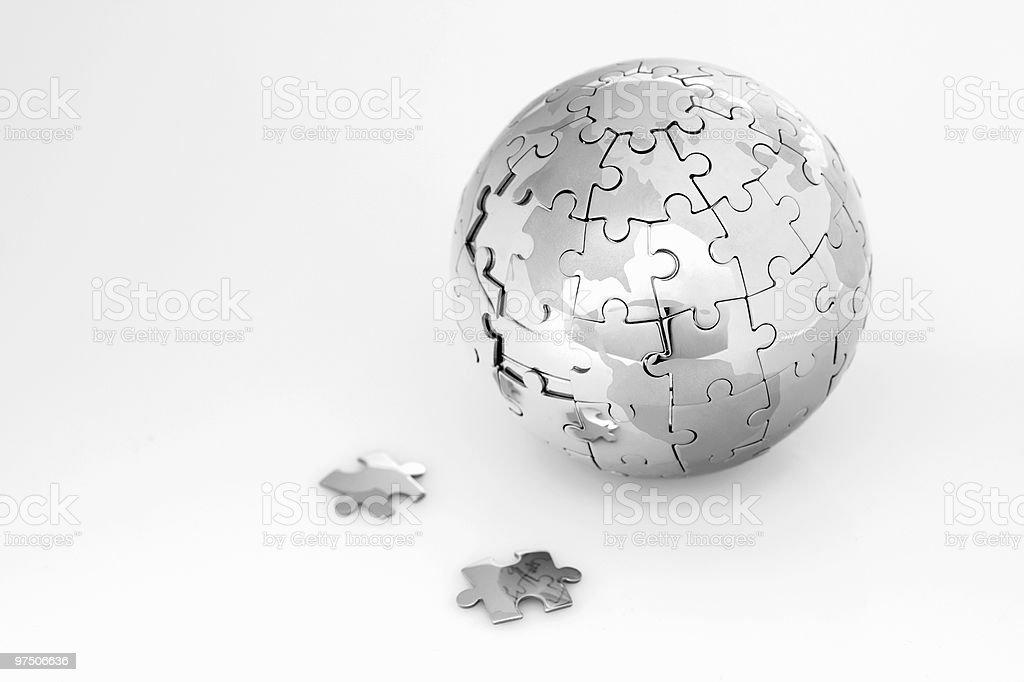 Puzzle globe royalty-free stock photo