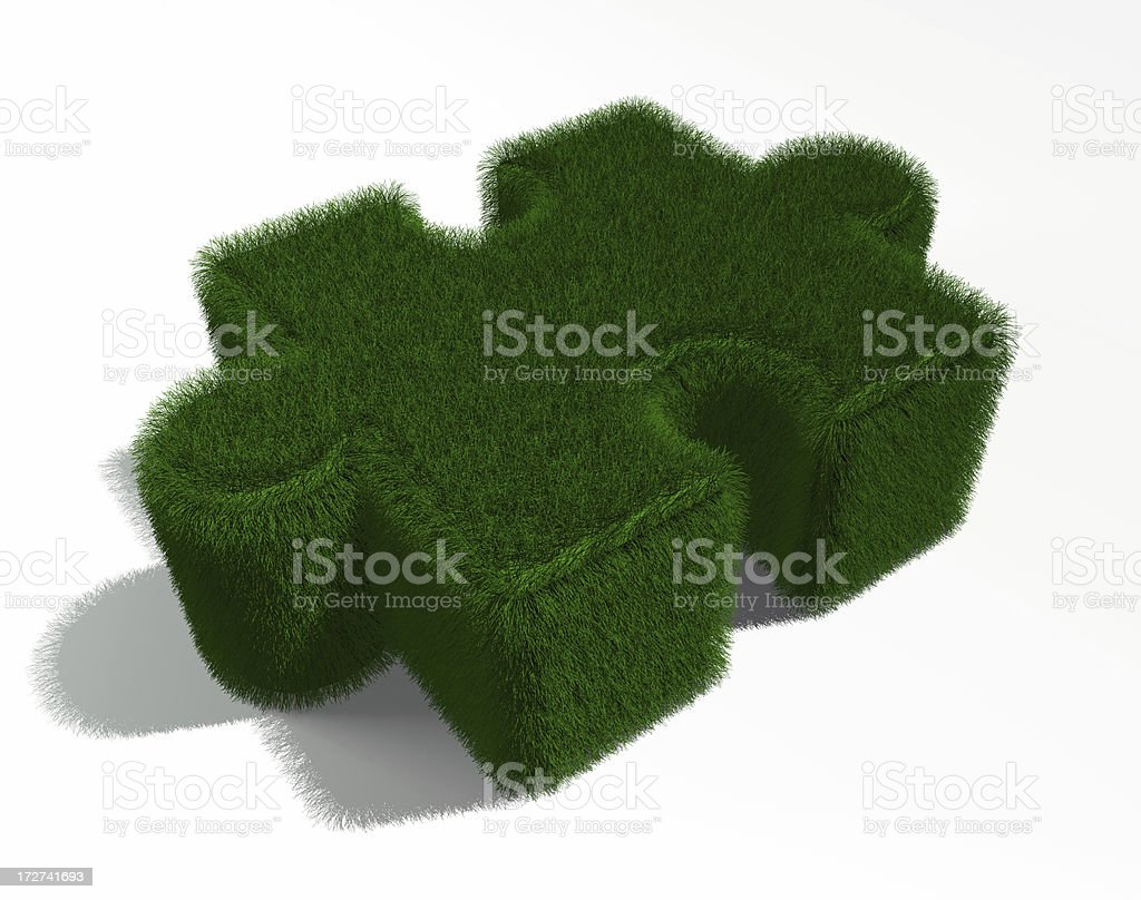 Puzzle grass royalty-free stock photo