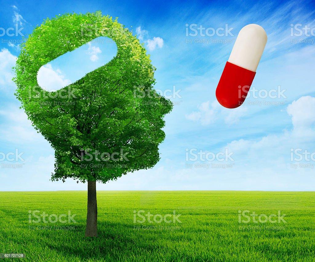 Puzzle head brain mental health symbol idea concept stok fotoğrafı