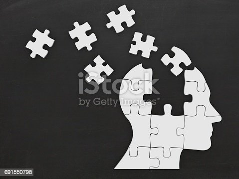 istock Puzzle head silhouette mind brain memory 691550798