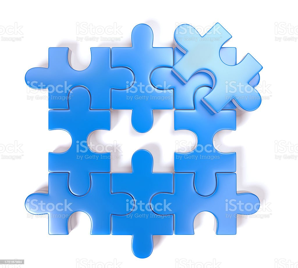 Puzzle isolated on white royalty-free stock photo