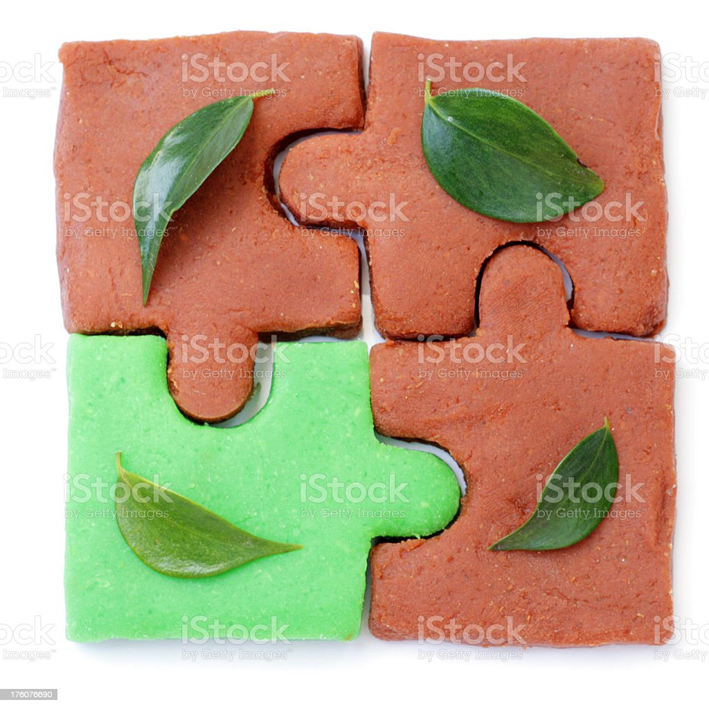 Puzzle leaves royalty-free stock photo