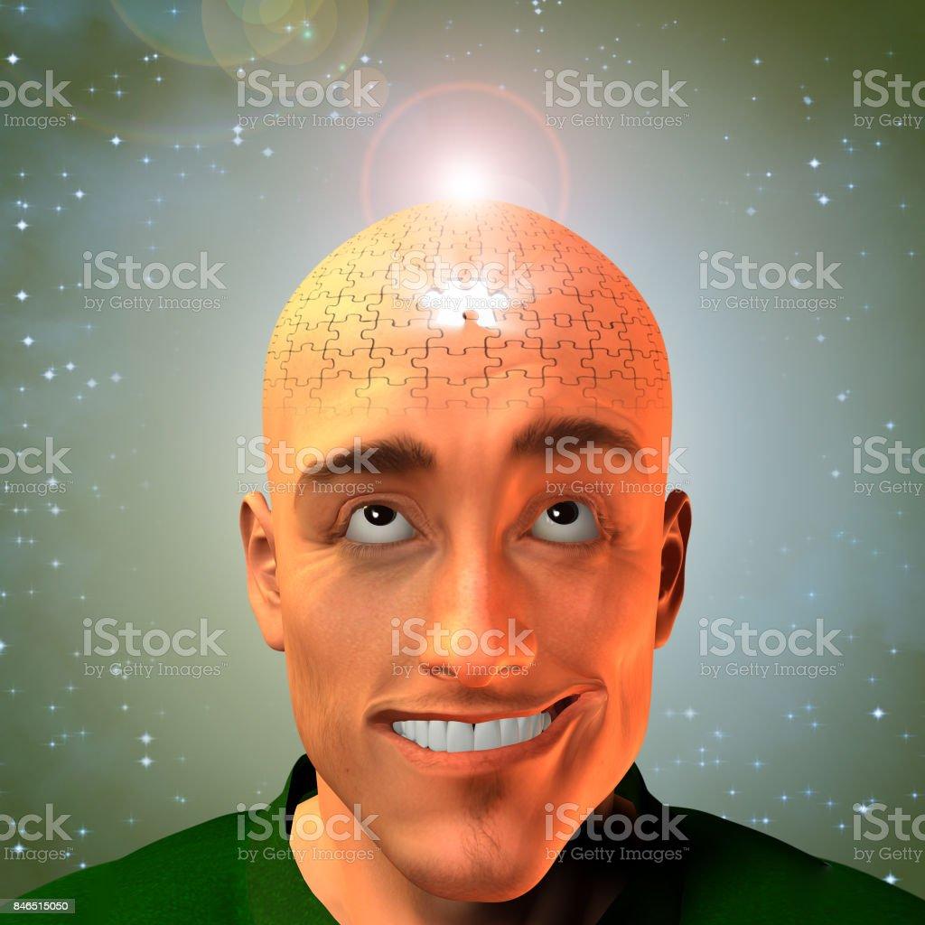 Puzzle man stock photo