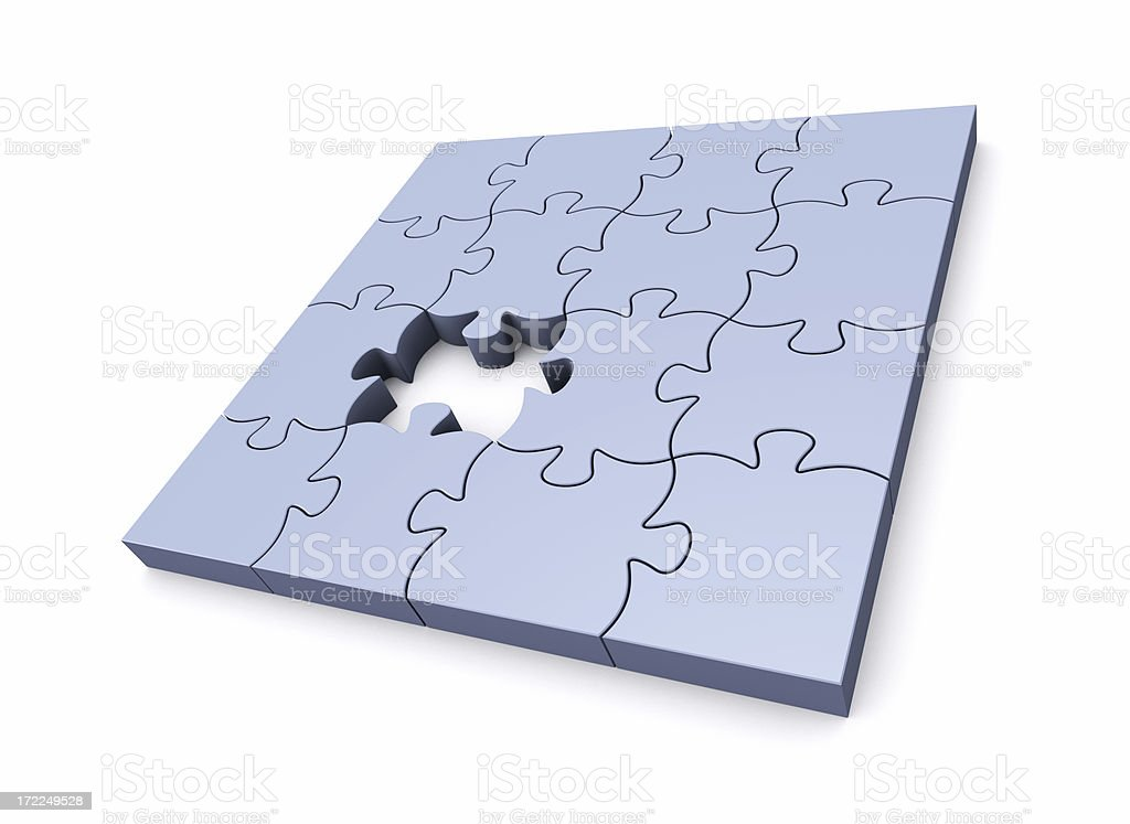 Puzzle Missing One royalty-free stock photo