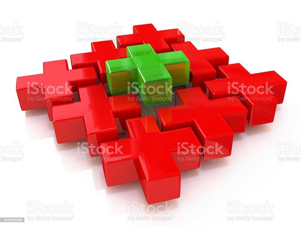 puzzle of the crosses stock photo