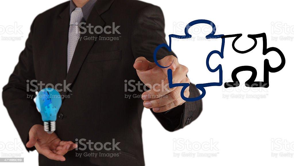 puzzle partnership royalty-free stock photo