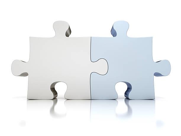 puzzle-perfekte match - dinge die zusammenpassen stock-fotos und bilder