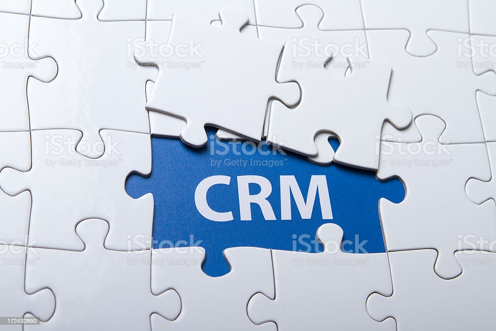 CRM Puzzle royalty-free stock photo