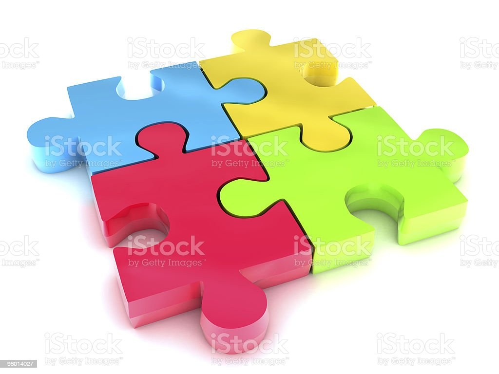 Puzzle royalty free stockfoto