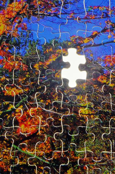 Puzzle Piece Missing stock photo