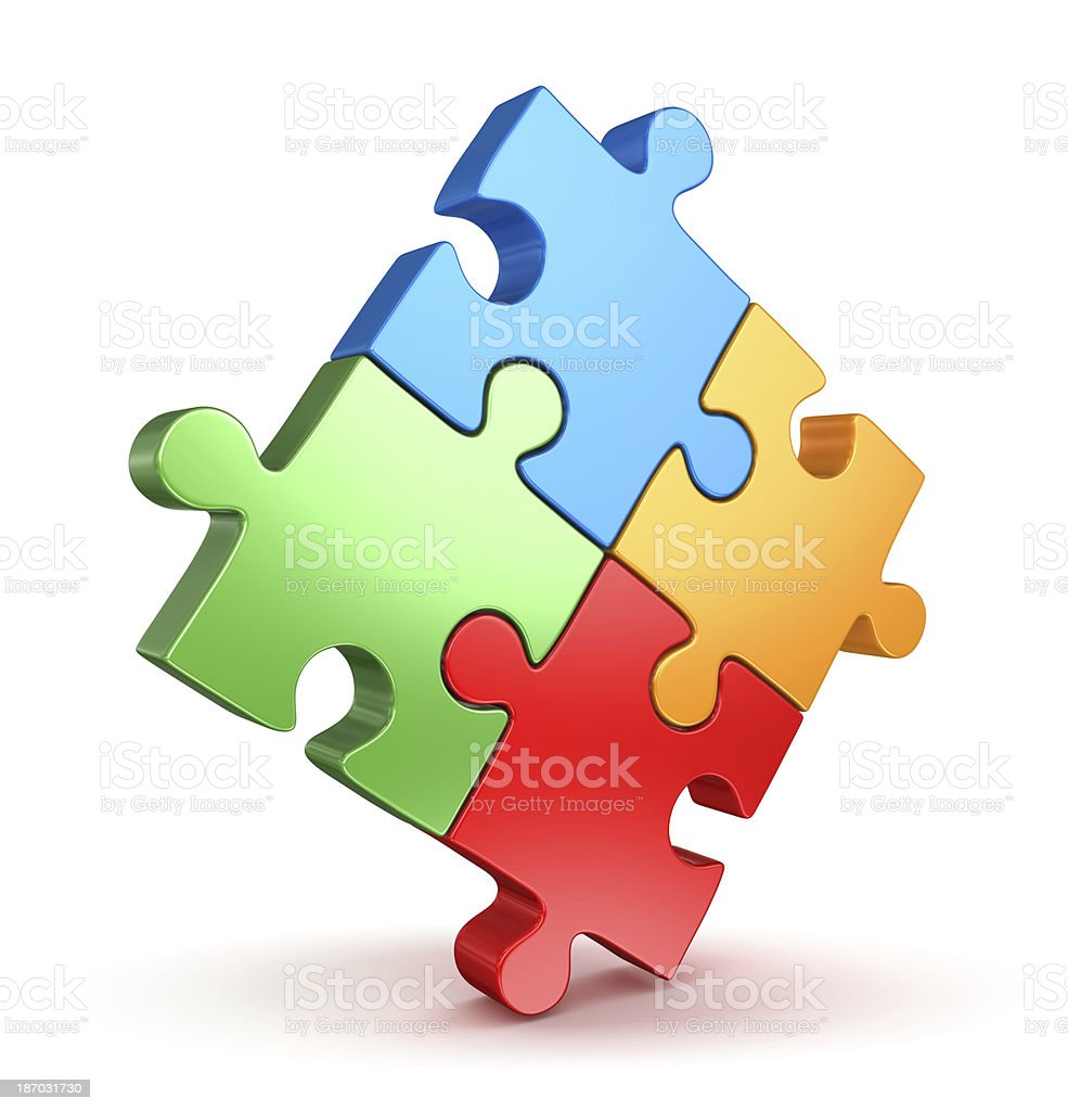 Puzzle Piece  Attached Stock Photo