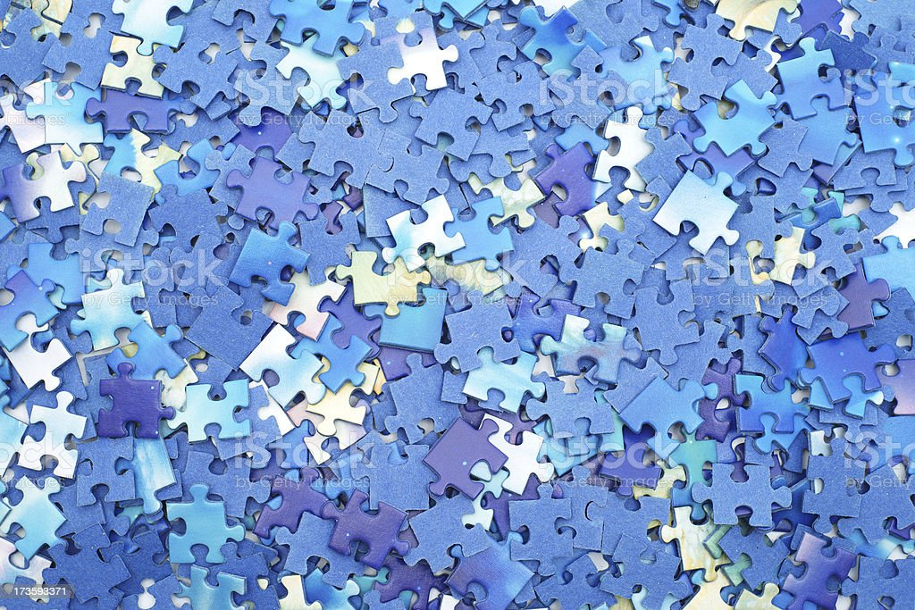 Puzzle pieces as background royalty-free stock photo