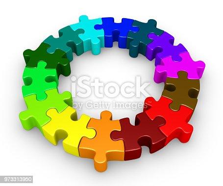 istock Puzzle pieces diversity concept 973313950
