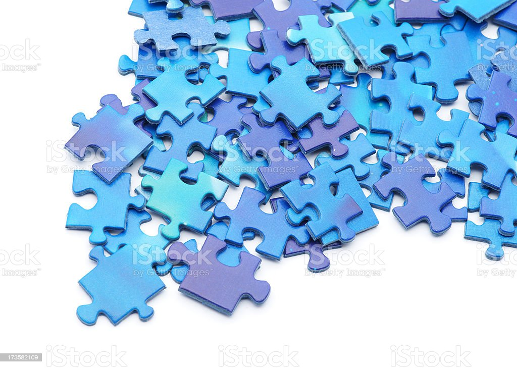 Puzzle pieces from the edge royalty-free stock photo