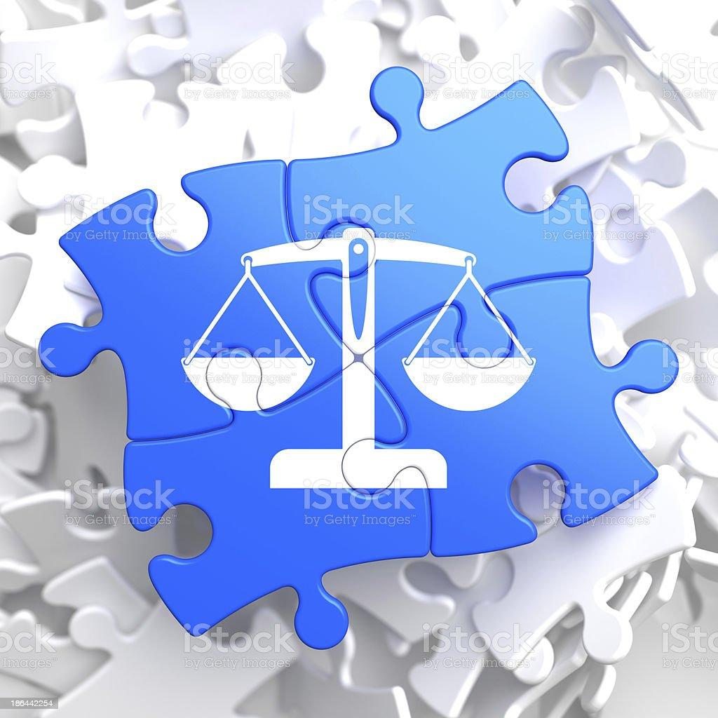 Puzzle Teile: Justiz-Konzept. – Foto