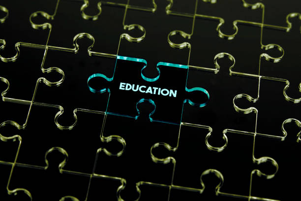 puzzle-teile der ausbildung - unterrichtsplanung vorlagen stock-fotos und bilder