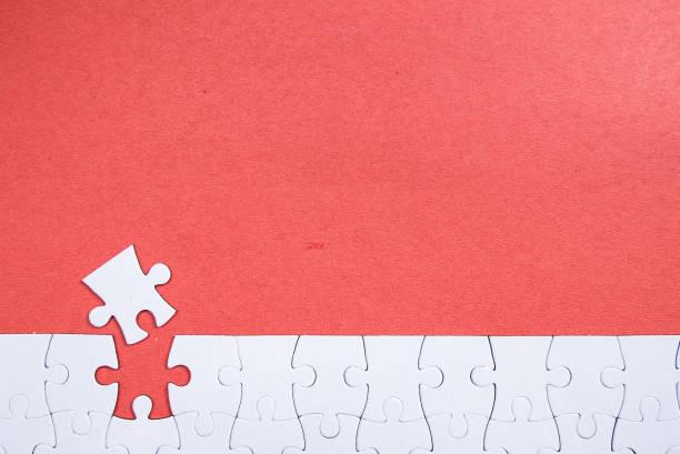 puzzle piezas - foto de stock