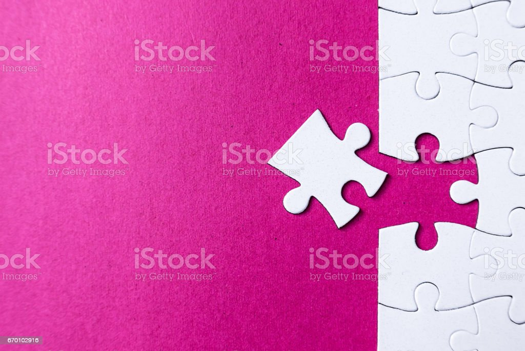 puzzle pieces stock photo
