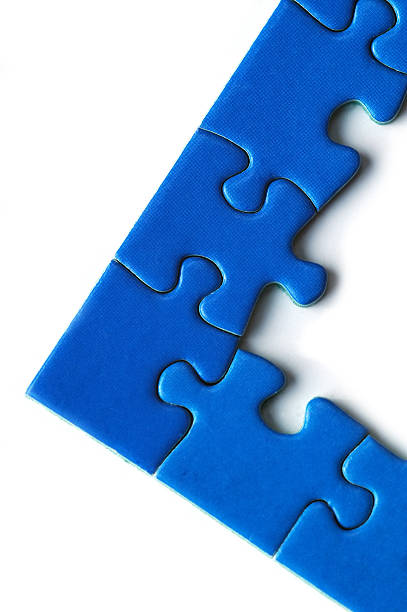 puzzle pieces  right angle stock pictures, royalty-free photos & images