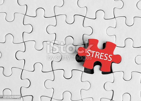 Stress word on jigsaw piece