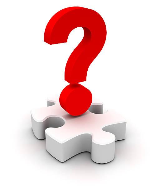 Puzzle question stock photo