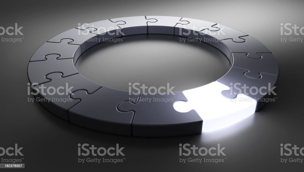 Puzzle Ring [glow] stock photo