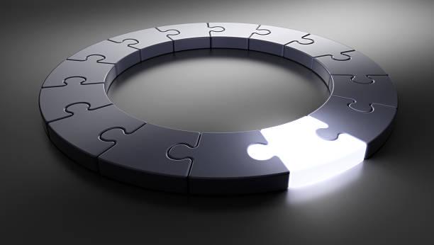 Puzzle Ring [glow] stock photo