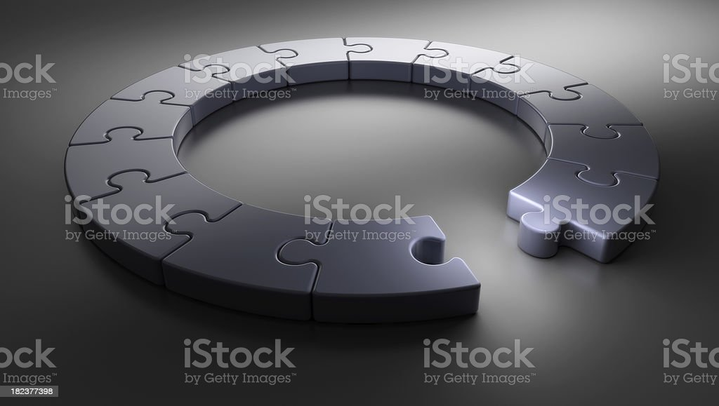 Puzzle Ring [one missing] royalty-free stock photo