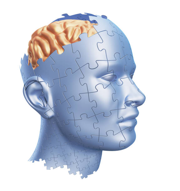 Puzzle Shaped Human Head stock photo