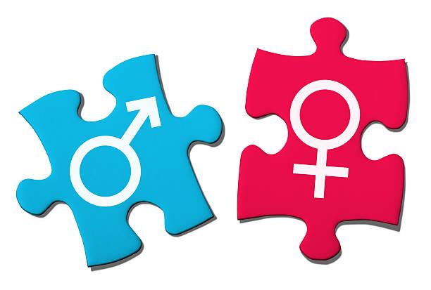 Quebra-cabeça com Símbolo de Sexo - foto de acervo